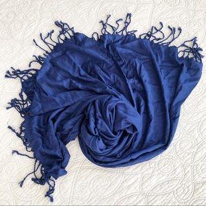 Liz Claiborne Royal Blue Rayon Pashmina Scarf